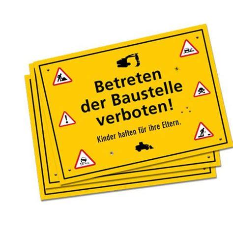 Baustellenschild Rot by Platzset Quot Baustellenschild Quot 38 Cm 6er Pack G 252 Nstig Kaufen