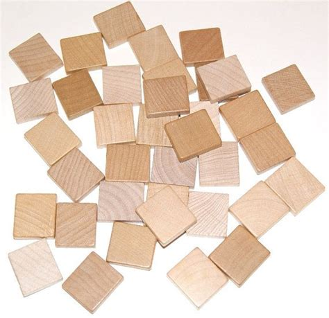 scrabble blank tile lot of 37 blank wood scrabble tiles for necklaces pendants