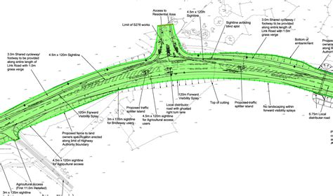 layout works engineering design for the public highway and junction