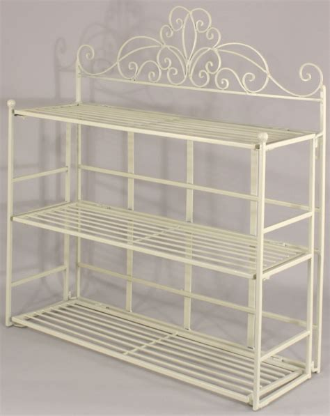 Shabby Chic Cream Metal Wall Shelf Storage Unit Display Shabby Chic Bathroom Shelves