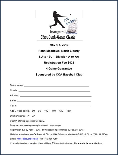 Sponsorship Banner Letter news cca baseball club go clippers
