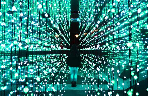 Light Walk Interactive Led Studded Tunnel Celebrates Led Light Installation