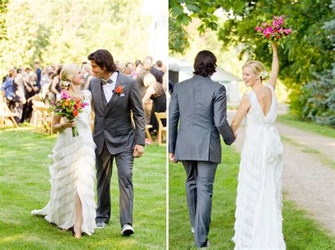 Amy Smart   Carter Oosterhouse's Eco Friendly Wedding