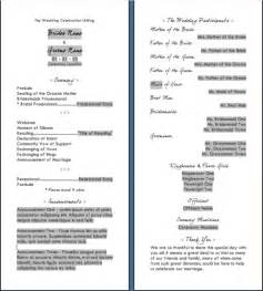 wedding reception programs templates wedding reception program templates