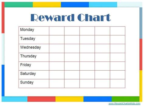 Behavior Reward Card Template by Reward Chart Templates Find Word Templates
