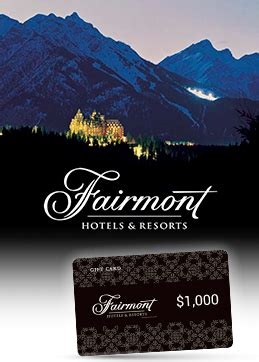 Fairmont Gift Card - charity auction item donation give away