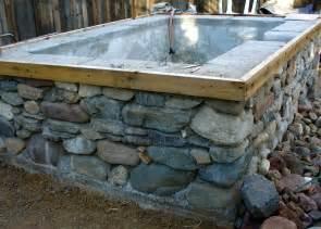 Bathtub Doesn T Drain Concrete And Stone Tub Patio Ideas Pinterest