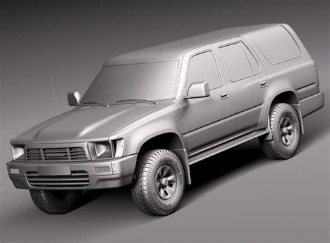 Toyota 1989 Models Toyota 4runner 1989 1997 3d Model Max 3ds Fbx C4d Lwo Lw
