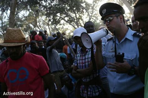 Asylum Officer by Photos Asylum Seekers March Out Of Open Prison Demand