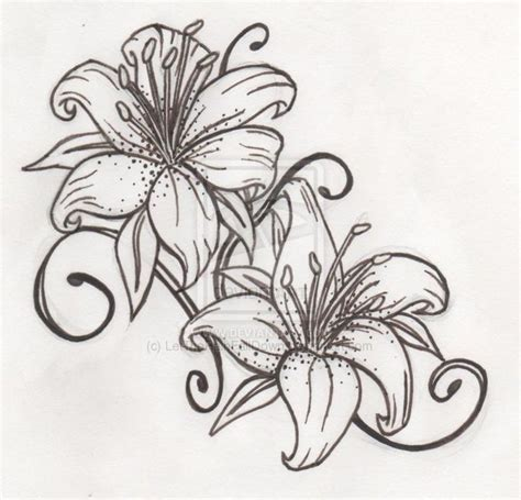 lilies design tiger tattoos