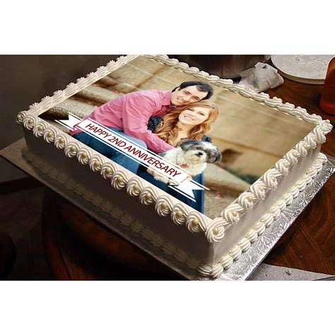 Cake With Picture by Anniversary Photo Cake