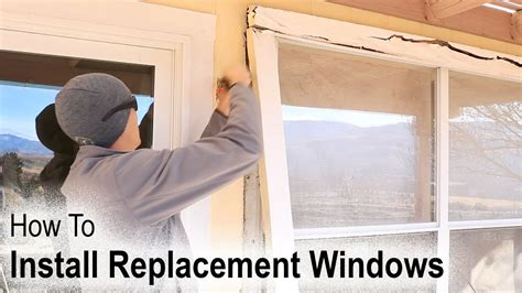 how to replace a house window how to install a replacement window on a house with wood siding youtube