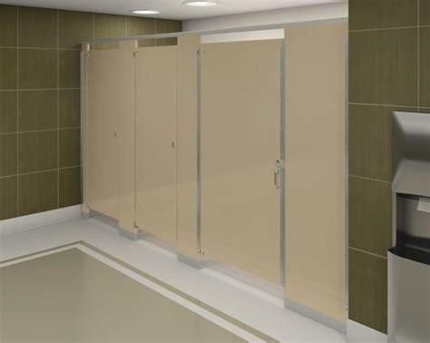 floor mounted overhead braced bathroom partitions