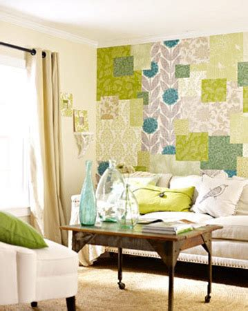 green wallpaper designs for living room modern interior design trends inspired by patchwork fabric