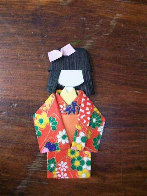 Origami Geisha - origami geisha doll by stingooddeeds cards and paper