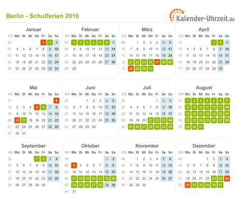 Kalender 2016 Jahres Bersicht Schulferien Berlin 2016 B 252 Rozubeh 246 R