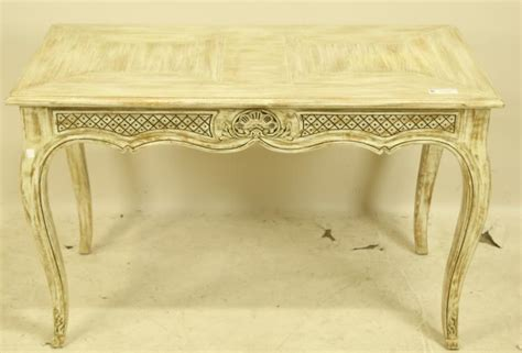 Country French Style White Washed Sofa Table Country Style Sofa Table