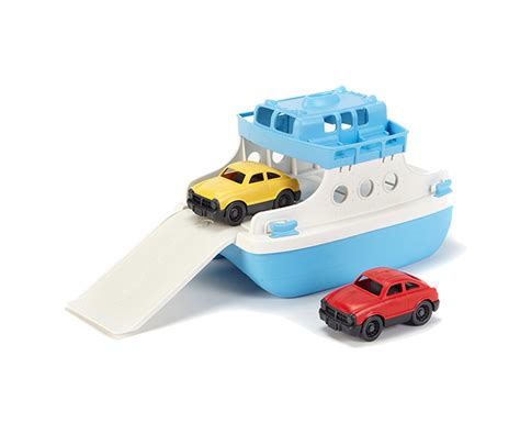 ferry boat with mini cars green toys ferry boat with mini cars made safe in the usa