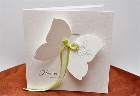 Hochzeitseinladung Schmetterling by Hochzeitskarte Mit Schmetterling
