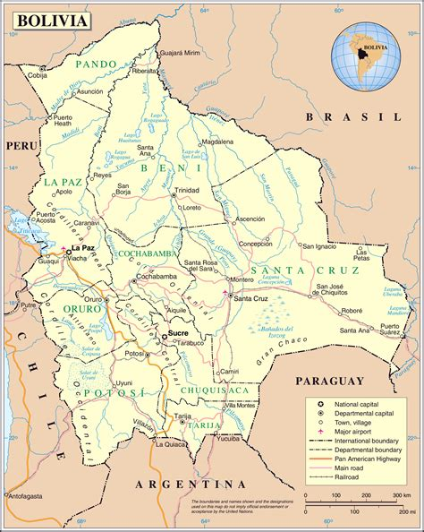 map of bolivia large detailed political map of bolivia bolivia large detailed political map vidiani