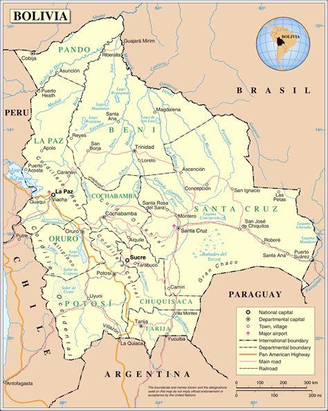 bolivia political map large detailed political map of bolivia bolivia large