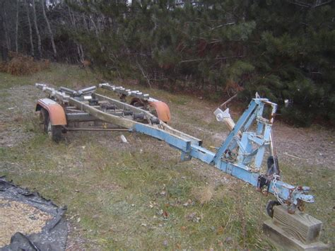 old boat trailer with coil springs antique boat america antique boat canada