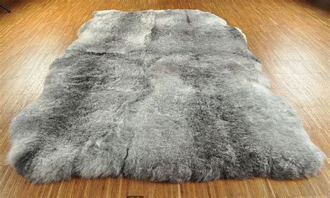 fell teppich grau 214 ko lammfell teppich grau 120 x 180 cm