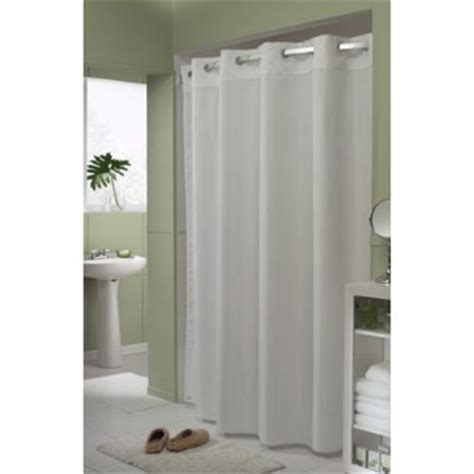hookless white shower curtain comfort suites hookless 174 blades white fabric shower
