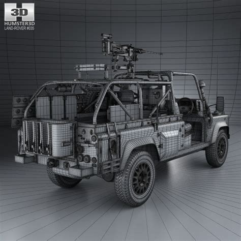 2014 land rover defender interior land rover defender rwmik with hq interior 2014 3d model
