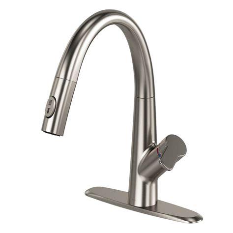 kraus stainless steel sink vs kohler kohler artifacts single handle pull sprayer kitchen