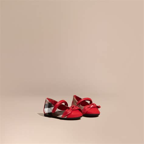 F368 E Burberry Shoes leather and house check ballerinas in parade burberry united states