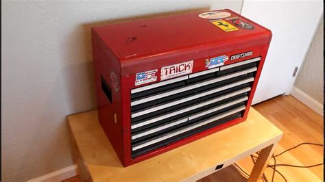 bench top tool box craftsman tool chest top box bench box youtube