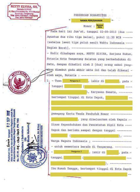 biaya membuat akta yayasan pembuatan akte perusahaan blog bambang santoso