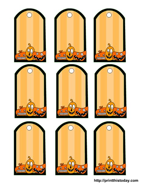 halloween goodie bag tag template festival collections