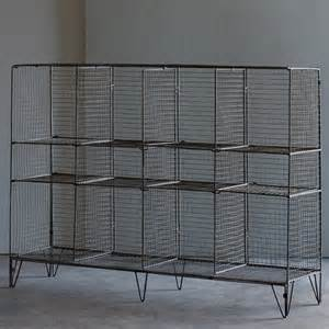 wire gymnasium shelving unit eclectic display and wall