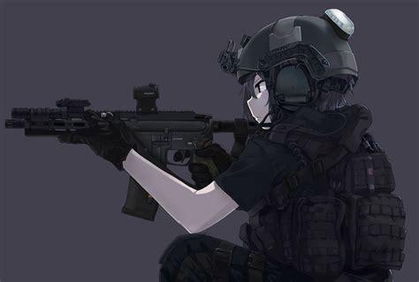 anime soldier girl wallpaper download 3134x2110 anime girl gunner military uniform