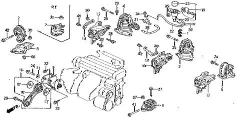 1993 honda accord parts diagram honda store 1993 accord engine mount parts