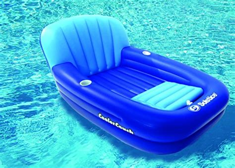 inflatable couch for pool solstice cooler couch inflatable pool lounger new ebay