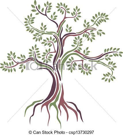 alberi clipart vettori eps di stilizzato vettore albero bellezza