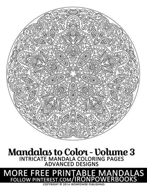 intricate mandala coloring pages free intricate mandala design to color therapy mandala