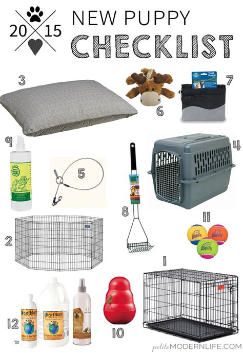 new puppy shopping checklist modern new puppy checklist modern