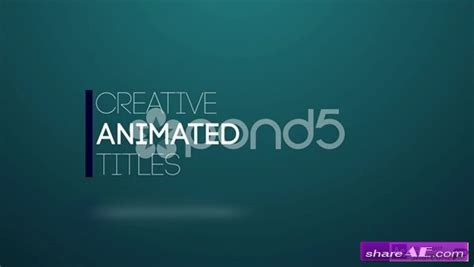 title animation after effects template pond5 187 free