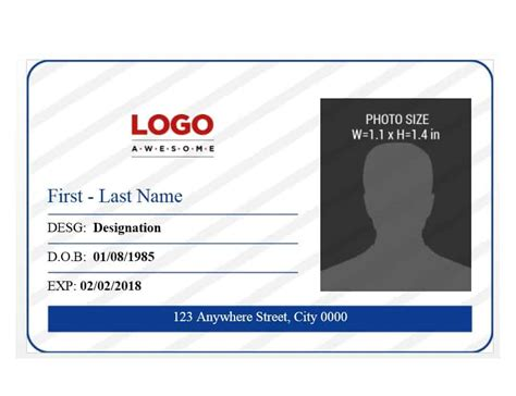 50 Id Badge Id Card Templates Free Template Archive Id Badge Template