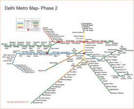 Metro Map by A Life Divided Delhi Metro Love Updated