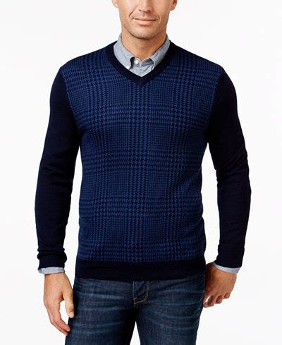club room macy s club room s merino blend v neck sweater only at macy s sweaters macy s