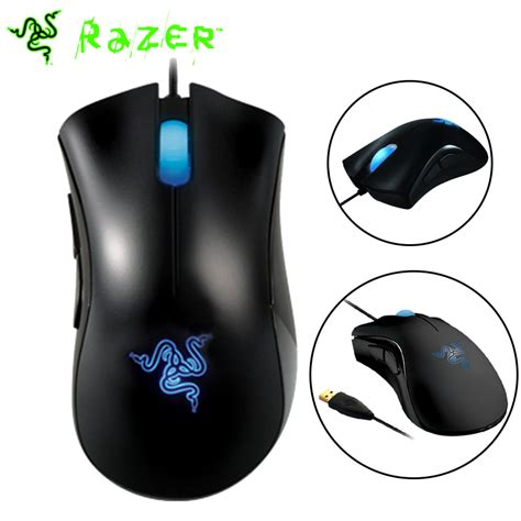 Mouse Razer Second 100 original razer deathadder mouse 3500dpi 3 5g infrared