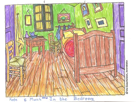 Gogh Bedroom Perspective Lesson Finding Perspective In Gogh S Bedroom In Auvers