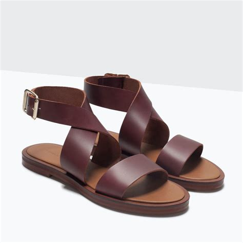 flat leather shoes flat leather sandal from zara shoes