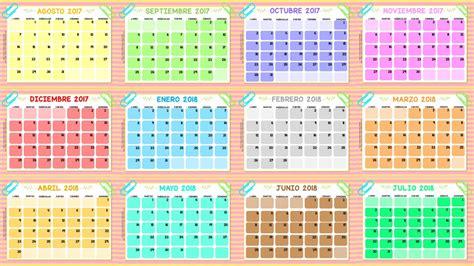 Calendario 2017 Meses Excelentes Calendarios De Todos Los Meses Ciclo