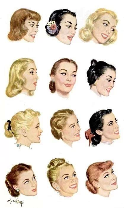 drawings of 1950 boy s hairstyles 1950s hairstyles 1950 pinterest updo pony tails and